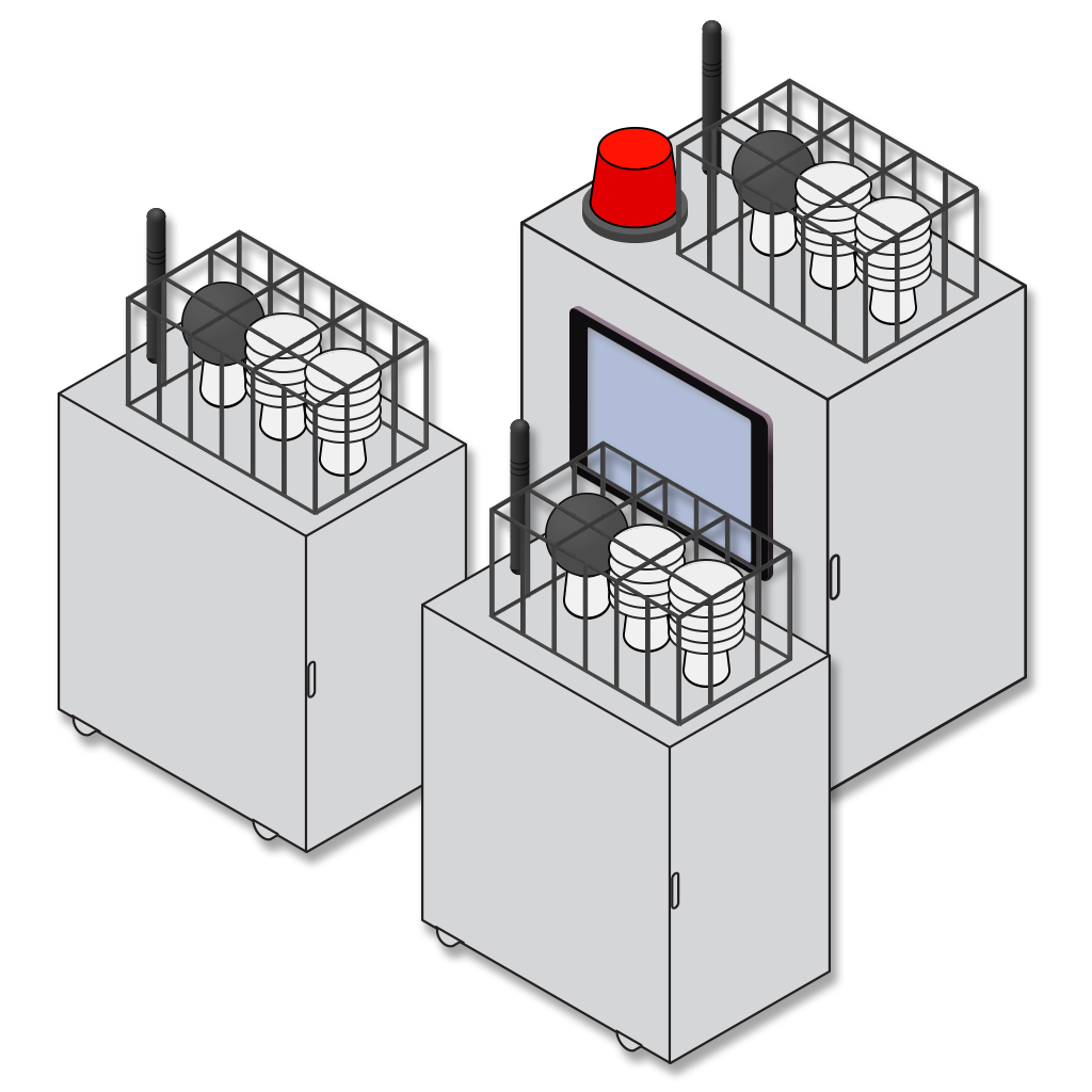 Heat Stress Monitoring Package with Two Detachable Sensors