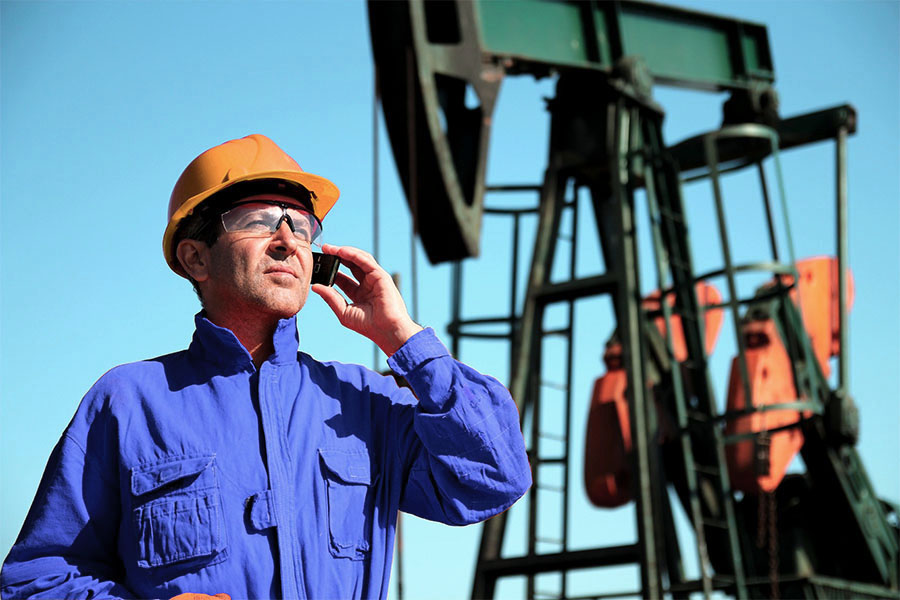 Satellite Pumpjack Monitoring Callout Field Worker