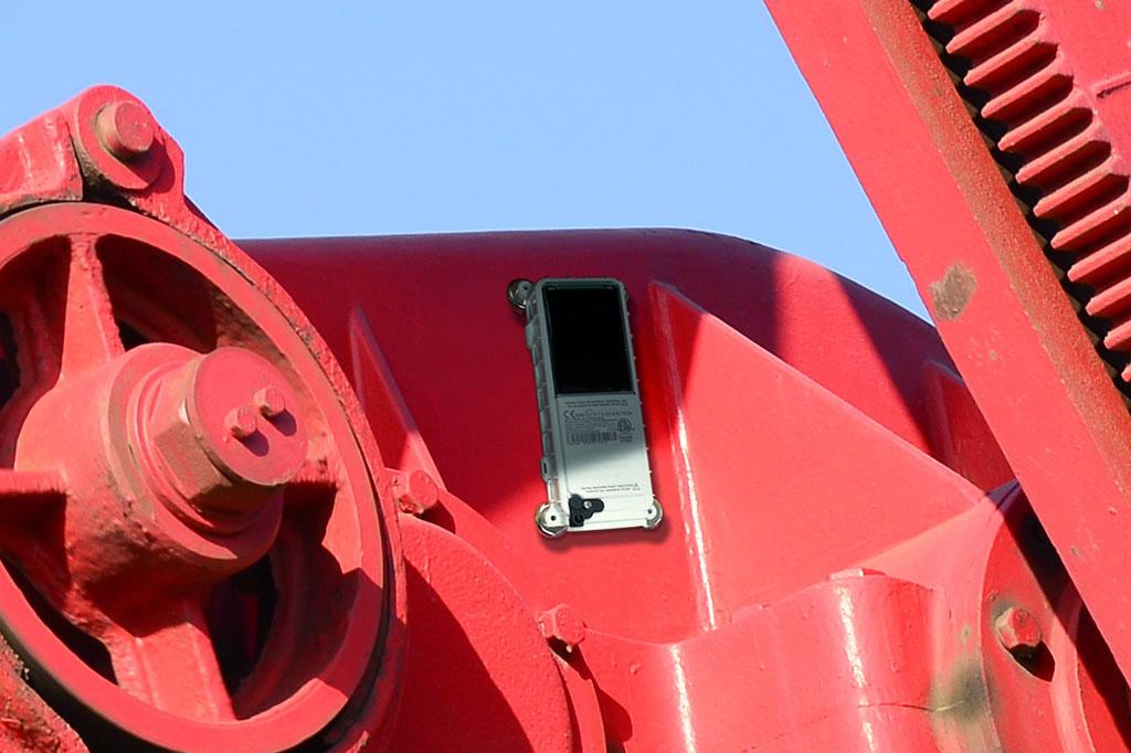 Satellite Pumpjack Monitoring Installation on Pumpjack